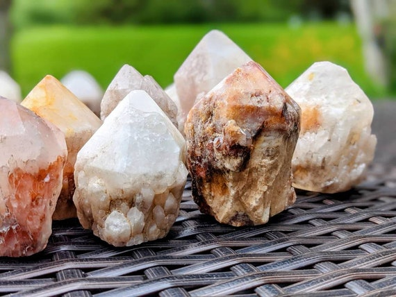 Natural Candle Quartz / Free Standing Crystal Point / Crystal Healing / Light Energy / Empathic Stone / Ancient Stone of Knowledge & Wisdom