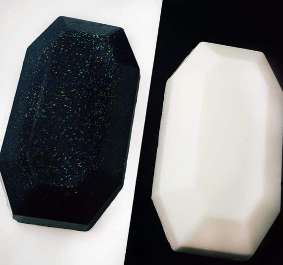 Black or White Sparkling Gemstone Soaps / Set of 3 / Gluten Free / Soy Free / Organic Oils / Vegan