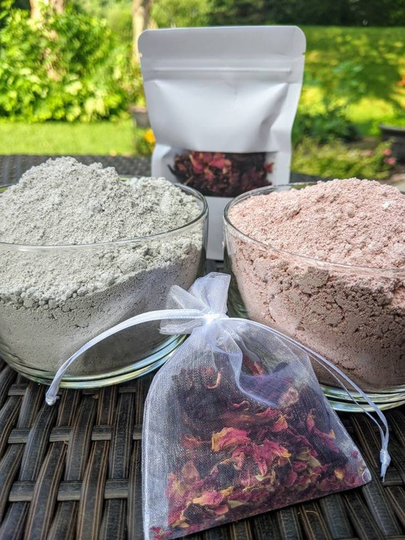 Natural Clay Mask Kits / Gluten Free / Nourishing /Revitalizing / Beautifying / Brightening / ~ Choose The Perfect Blend For Your Skin Type!