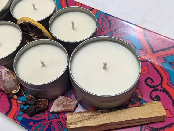 4 oz Candles / 100% Soy / Choose Your Scent / Hand Poured / High Quality - Artisan Home Fragrance / Customizable Labels & Charms Available!