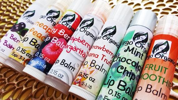 2 Pack / Artisan Lip Balm / Organic / Soft Healthy Lips / Moisturizing / 25 AMAZING Flavors to Choose From! / Vegan / Gluten Free