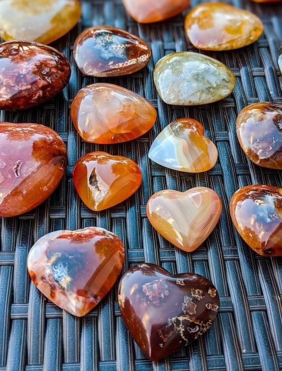 Carnelian Heart-Shaped Palm Stone / High Quality / Polished / Crystal Energy / Chakra Stone / Meditation Stone / Ethically Sourced
