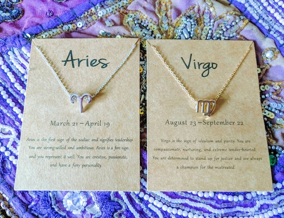 On Sale! Zodiac Charm Necklaces / The Perfect Gift For Any Astrology Enthusiast / Both 14k Gold dipped or Silver is Available