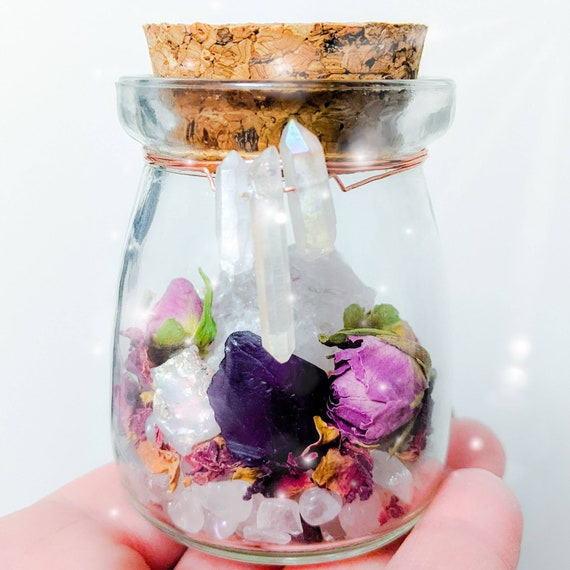 Love Blessing Set / Marriage Blessing / Witch Jar / Herbal Blessing / Crystal Blessing / Love Spell / Self Love / Wiccan / Pagan / Spiritual
