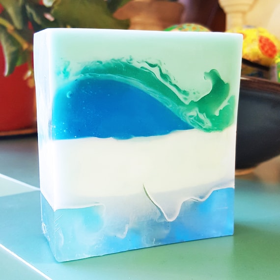 Under The Sea Bar Soap / Phthalate Free / Gluten Free / Organic Oils / Fresh Sea Island Cotton Breeze / Soy Free /  Natural Exfoliation