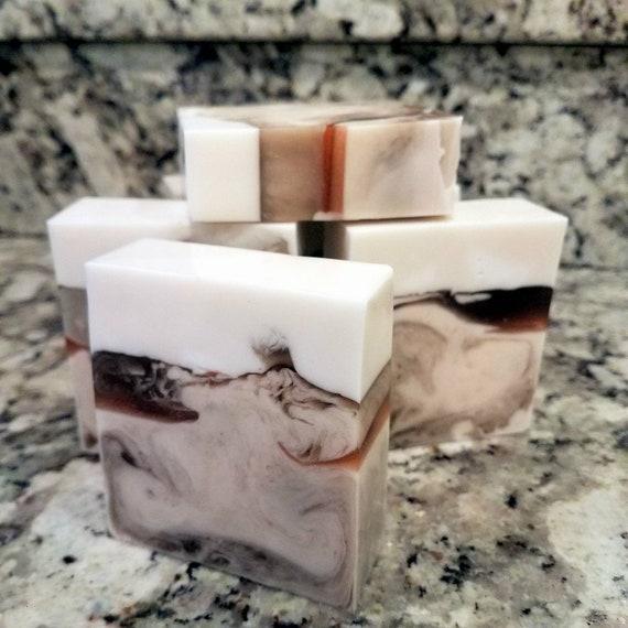Handmade Irish Mocha Soap / Phthalate Free / Gluten Free  / Organic Goats Milk and Aloe / ORGANIC!