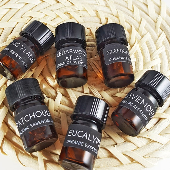 Pure Organic Essential Oil Kit ~ PICK ANY 2 oils! ~ Plus a Amber Glass Dropper Bottle for Blending Your Own Healing DIY Projects!