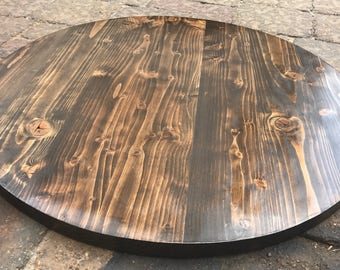Rustic Reclaimed Handmade WOOD Round Table Top Bar Restaurant Farmhouse  Urban Rustic Shabby Chic Custom
