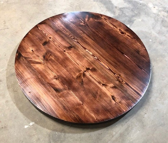 Rustic Handmade Round Wood Table Top, Round Wood Table Tops