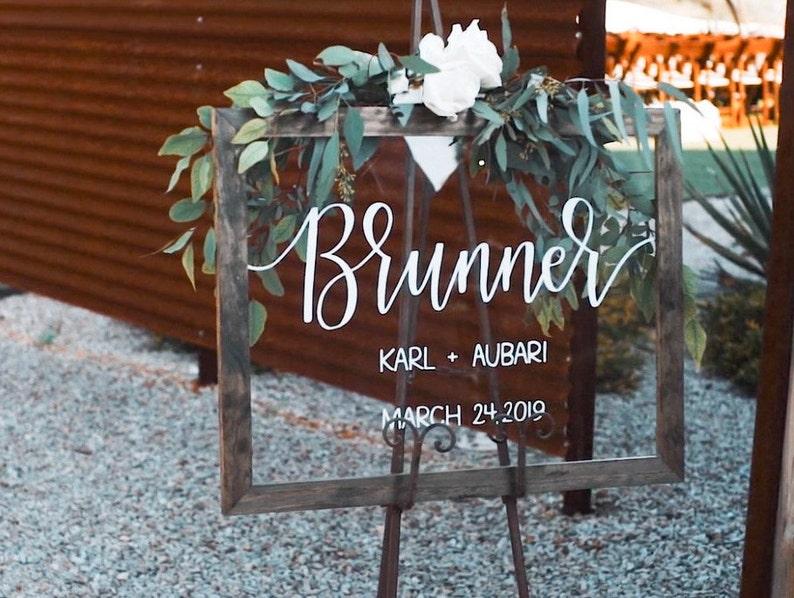 Creative Elegant Acrylic Wedding Welcome Signs