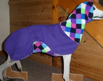 whippet ,lurcher, puppy, Dog snood fleece 2 piece jumper,