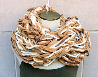 Oversized Scarf, Circle Scarf Knit, Oversized Cowl, Chunky Loop Scarf, Chunky Infinity Scarf, Knit Oversized Scarf, Chunky Cowl, Arm Knit