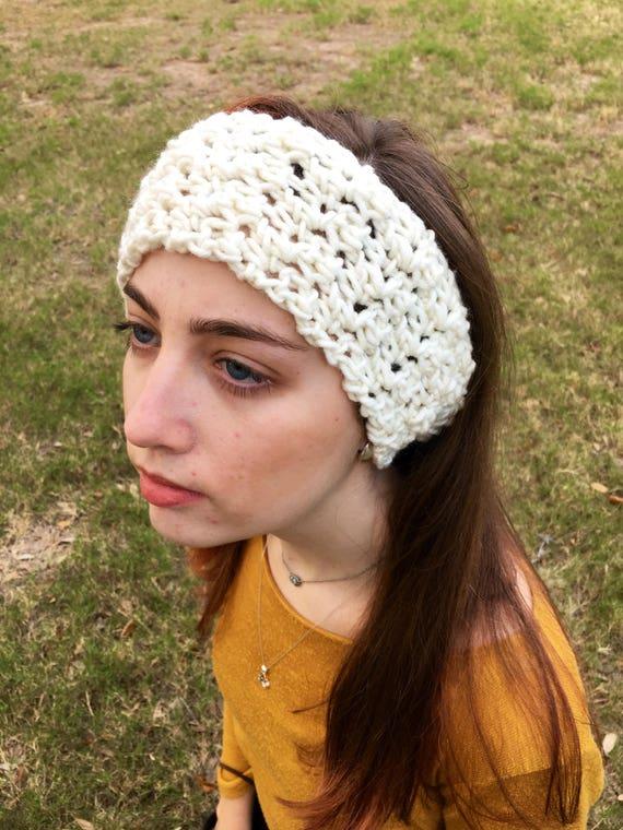 Grobstrick Stirnband Häkelarbeitstirnband Gehäkelte | Etsy