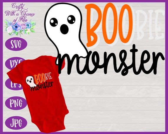 Boobie Monster Svg Halloween Breastfeeding Baby Bodysuit Etsy
