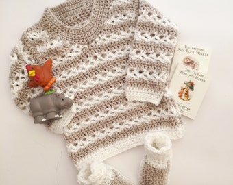 Jumper with matching bootees