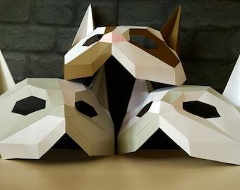 PDF Cat mask/Paper cat mask/DIY mask/Fancy dress/Halloween Mask/Printable Templates/Animal Mask/Kitten Mask/