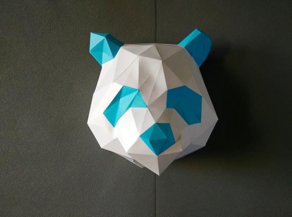 Panda DIY KIT/ Room Decor/ Paper Craft/ Wall Decor/ Paper