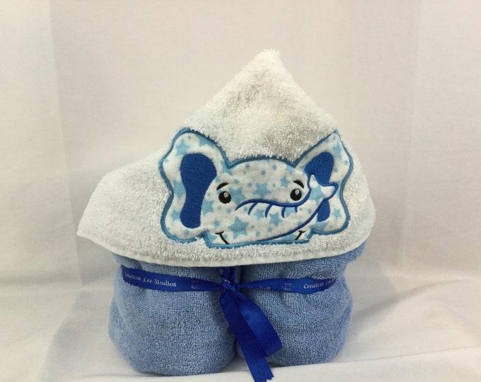 Elephant Hooded Towel for Kids, FREE SHIPPING, Full Size Plush Bath Towel; Bath Wrap - IPFG-000103