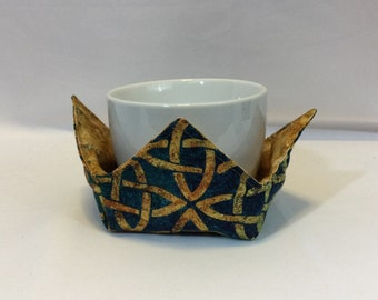 "Celtic Knots Microwave Bowl Cozy-Small; 4"" Bottom Diameter; Coffee Cup Size; Small Bowl Size; Reversible - IPFG-000450"