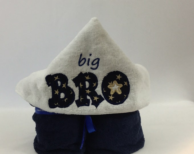 Big Bro Hooded Towel for Kids, FREE SHIPPING, Full Size Plush Bath Towel; Bath Wrap - IPFG-000256