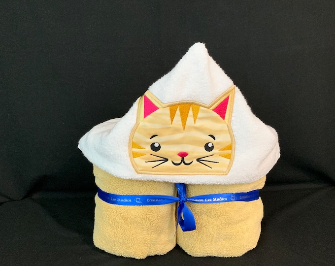 Cat Hooded Towel for Kids, FREE SHIPPING, Full Size Plush Bath Towel; Cat Bath Wrap - IPFG-000267