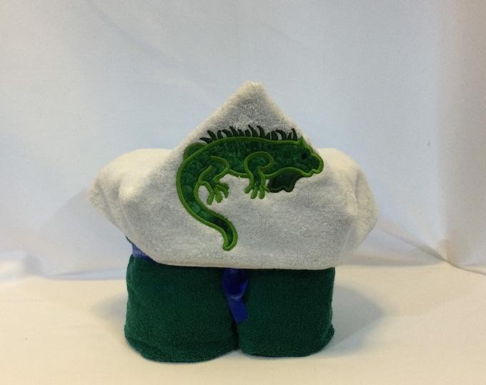 Lizard Hooded Towel for Kids, FREE SHIPPING, Full Size Bath Towel, Hoodie; Bath Wrap - IPFG-000423