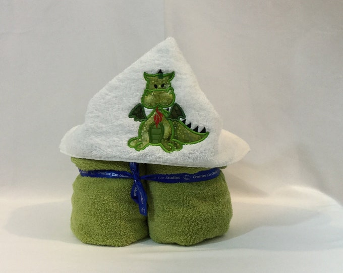 Dragon Hooded Towel for Kids, FREE SHIPPING, Full Size Bath Towel, Bath Wrap; IPFG-000270