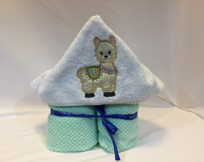 Llama Hooded Towel for Kids, FREE SHIPPING, Full Size Bath Towel, Hoodie; Bath Wrap - IPFG-000419