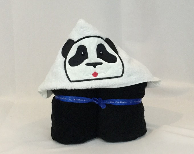 Panda Bear Hooded Towel for Kids, FREE SHIPPING, Full Size Bath Towel, Hoodie; Bath Wrap - IPFG-000113