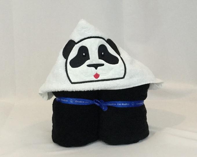 "Panda Bear Hooded Towel for Kids, Approx 30"" W x 50"" L; Panda Hoodie; Bath Wrap; FREE SHIPPING - IPFG-000113"