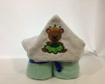 Bear Princess Hooded Towel for Kids, FREE SHIPPING, Full Size Bath Towel, Hoodie; Bath Wrap - IPFG-000431