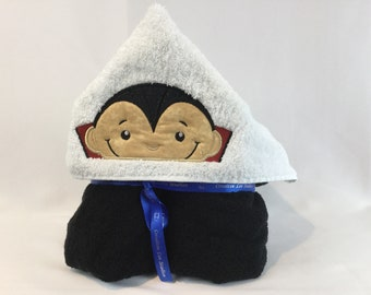 Count Dracula Hooded Towel for Kids, Full Size Bath Towel, Bath Wrap, Hoodie, FREE SHIPPING - IPFG-000141