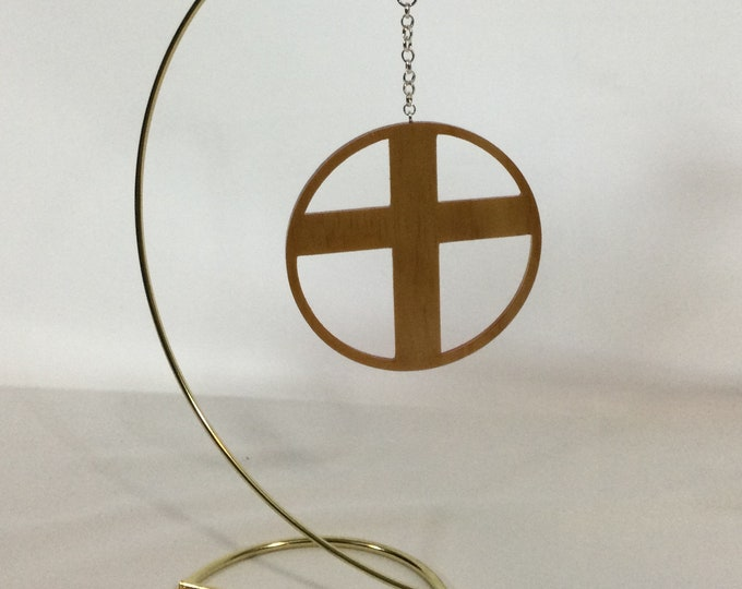 Wood Cross Ornament, Hand Crafted Cross, Christian Gift; Hand Crafted Crucifix Cross; IPFG-000431