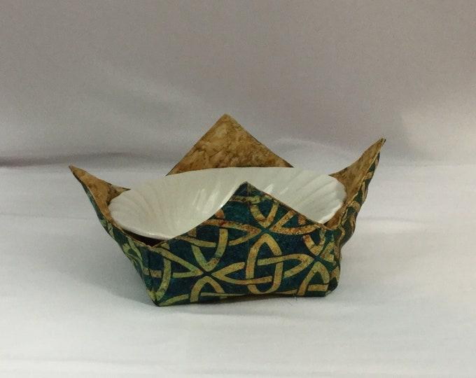 Celtic Knots Microwave Bowl Cozy; Medium, Salad Bowl Size, Reversible, Free Shipping, Hot Bowl Pad-IPFG-000351