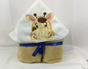Giraffe Hooded Towel for Kids, Full Size Bath Towel, Bath Wrap; FREE SHIPPING - IPFG-000062
