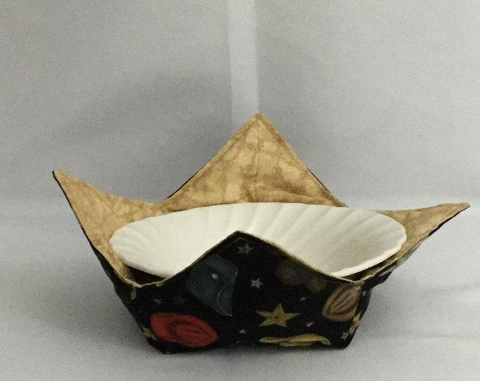 "Cowboy Hats Microwave Bowl Cozy; Medium 6"" bottom diameter, Free Shipping, Hot Bowl Pad-IPFG-000219"