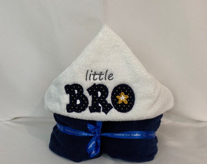 Little Bro Hooded Towel for Kids, FREE SHIPPING, Full Size Bath Towel, Plush Towel; Kid's Bath Wrap - IPFG-000255