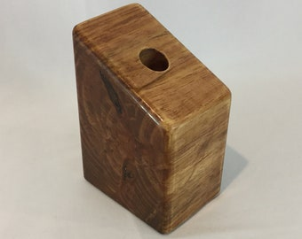 Wood Candle Holder-Handmade, 1 Candle Socket; Table Centerpiece, Modern Candle Holder IPFG-000188