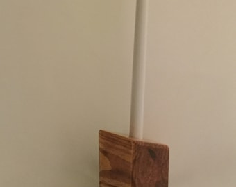 Rustic Wood Candle Holder-Handmade Candle Holder, Rustic Wood Decor, 1 Candle Socket; Table Centerpiece, Modern Candle Holder IPFG-000188