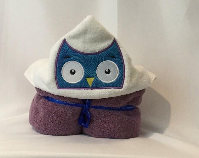 Owl Hooded Towel for Kids, FREE SHIPPING, Full Size Bath Towel, Hoodie; Bath Wrap - IPFG-000054