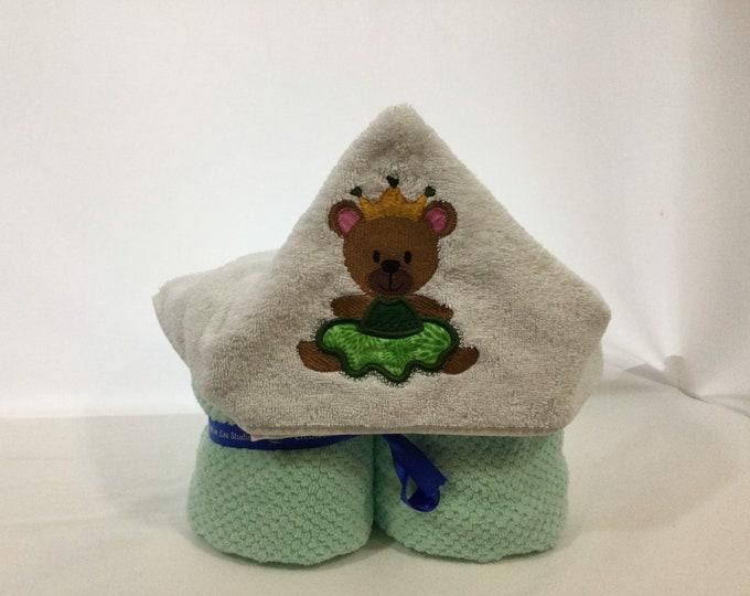 Bear Princess Hooded Towel for Kids, FREE SHIPPING, Full Size Bath Towel, Hoodie; Bath Wrap - IPFG-000431