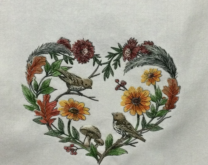 Kitchen Towel - Birds - Tweet Love Birds - Funny Image and Saying Towel, 100% Cotton Towel, Back Hanging Tab - IPFG-000500