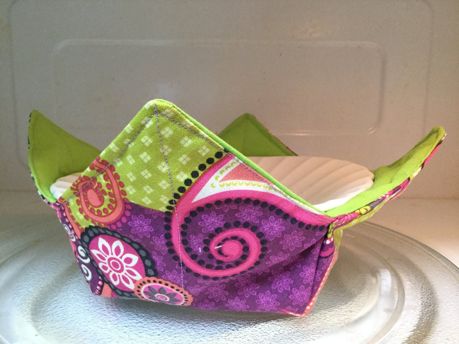Sew a microwave safe bowl cozy & free printable gift tags the.