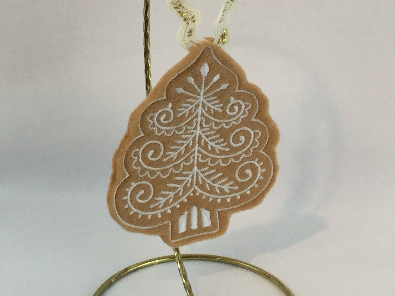 christmas ornament felt gingerbread christmas tree cookie felt ornament cookie christmas ornament christmas tree ipfg 000156 - Gingerbread Christmas Tree
