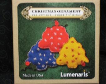 Lumenaris Kit - Old-Fashioned Christmas Trees (3 per box) Felt Ornament Kit - IPRG-000012