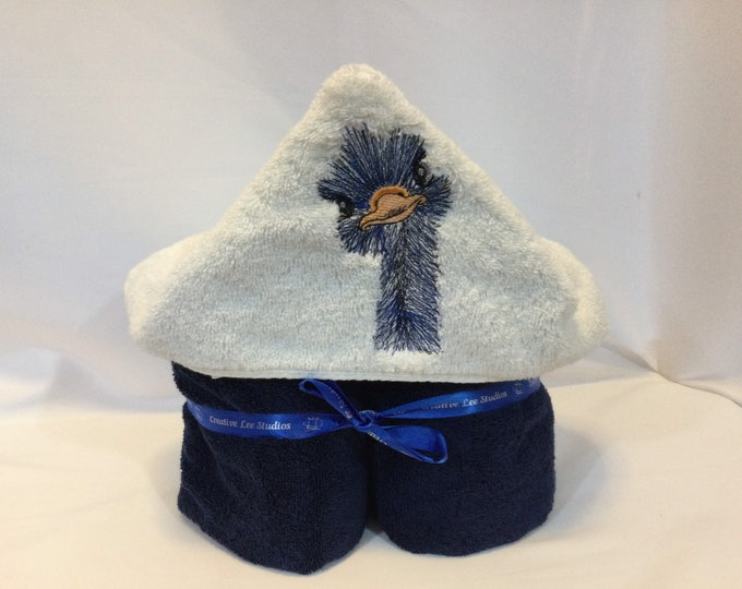 Ostrich Hooded Towel for Kids, FREE SHIPPING, Full Size Bath Towel, Hoodie; Bath Wrap - IPFG-000422