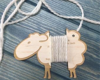 Wraps per inch gauge - Sheep
