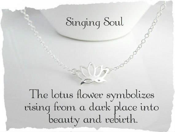 Lotus Flower Necklace Reiki Jewelry Yoga Jewelry Zen Etsy