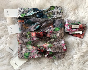 72780104803 Gucci inspired floral print Headbands for women