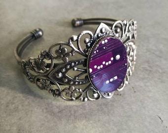 purple circuit board bracelet